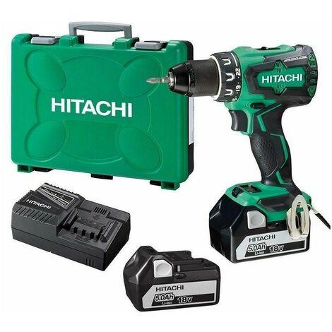 Perceuse - Visseuse Brushless 18V 5Ah Li-ion Hitachi-Hikoki - 2 batteries 5Ah, chargeur, en coffret – DS18DBSL
