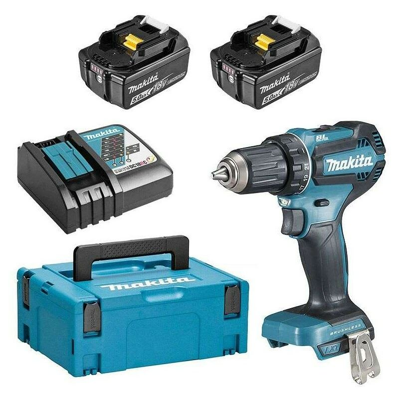 Perceuse visseuse 18 V Li-Ion 5 Ah BL1850B Ø 13 mm - Makita – DDF485RTJ