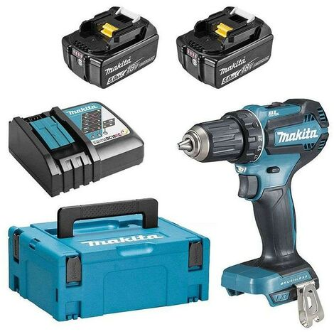 Perceuse visseuse Brushless 18V Li-Ion 2 batteries 5Ah BL1850B Ø 13 mm - Makita – DDF485RTJ