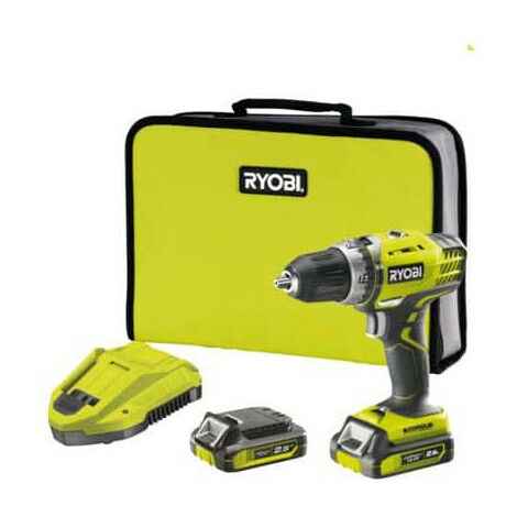 Perceuse-visseuse compacte RYOBI 14.4V LithiumPlus - 2 vitesses - 2 batteries 2.5 Ah R14DDE-LL25S