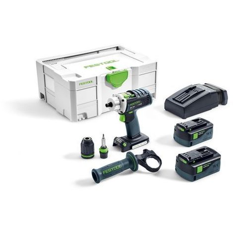 Perceuse visseuse FESTOOL DRC 18/4 Li-PLUS - 2 Batterie, chargeur, coffret Systainer 2 - 574696