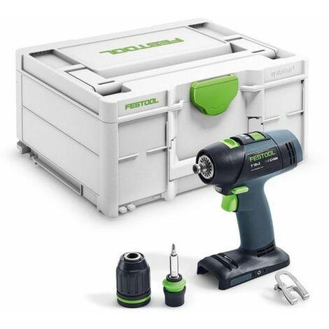 Perceuse visseuse FESTOOL T 18+3 BASIC - Sans batterie, ni chargeur - Coffret Systainer 2 - 574763