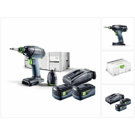 Perceuse visseuse FESTOOL T 18+3 PLUS - 2 Batteries, chargeur, coffret Systainer 2 - 574756