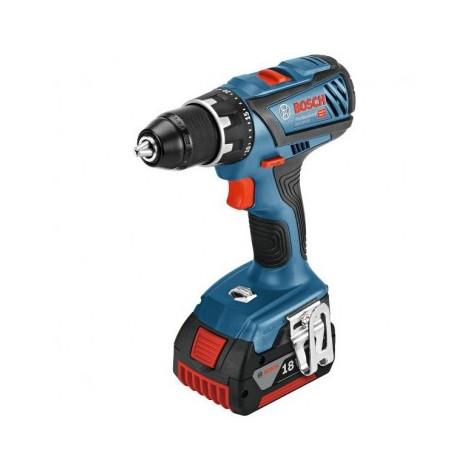 Perceuse visseuse GSR 18V-28 + 2 Batteries 3Ah L AL 1820 CV en coffret L-BOXX BOSCH 0615990K3N