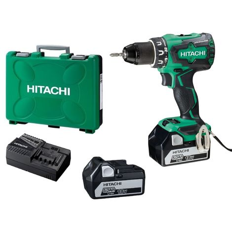 PERCEUSE VISSEUSE HITACHI DV18DBSL brushless (2 x 5Ah) 18v 70Nm