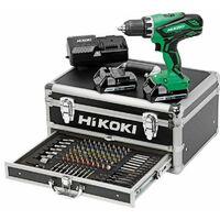 Perceuse visseuse Hitachi - HIKOKI 18V 2.5Ah + 2 batteries, chargeur en coffret 100 Accessoires - KC18DJLFZ