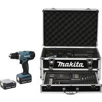 Perceuse visseuse MAKITA 14.4V Li-Ion 1.3Ah - 2 batteries, chargeur, coffret alu + 70 accessoires - DF347DWEX3