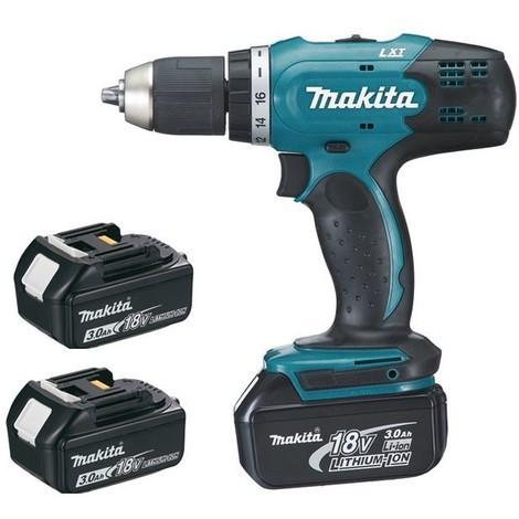 Perceuse visseuse MAKITA 18V 3.0Ah + 3 Batteries, chargeur, en coffret - DDF453SFE3