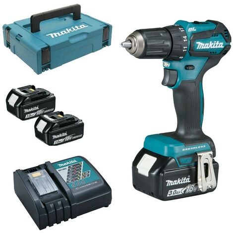 Perceuse visseuse MAKITA 18V Li-ion 3Ah - Ø13mm - 410W - 2 batteries + 1 chargeur + 1 malette transport - DDF483RFJ