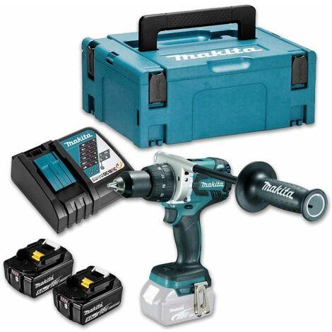 Perceuse visseuse MAKITA + 2 batteries 18V 5 Ah, chargeur, coffret - DDF481RTJ