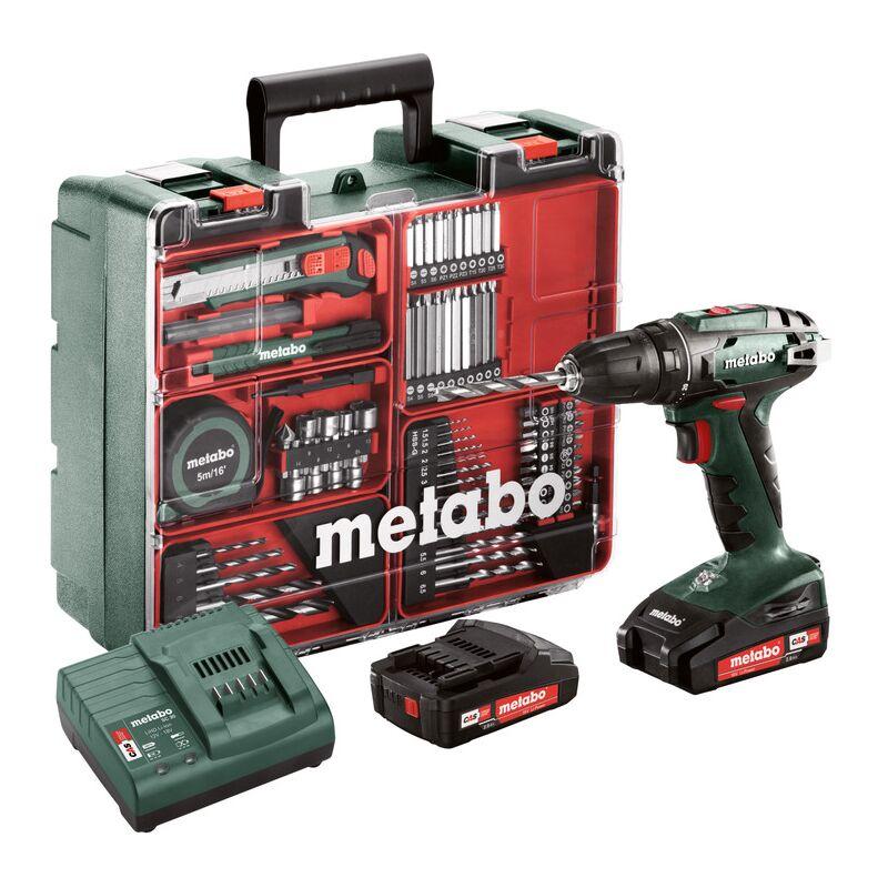Metabo Perceuses-visseuses sans fil BS 18 Set 18 V/2,0 Ah avec accessoires