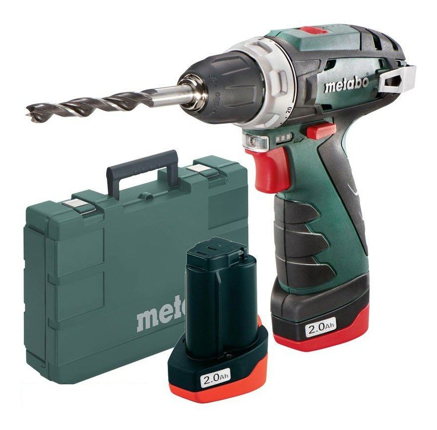 Perceuse visseuse Metabo PowerMaxx BS 10.8v 2 x 2Ah