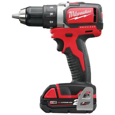 Perceuse Visseuse Milwaukee Brushless M18 BLDD-202C - 2 batteries 18V 2.0Ah - 1 chargeur 4933448441