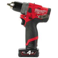 Perceuse visseuse MILWAUKEE FUEL M12 FDD-402X - 2 batteries 12V 4.0 Ah - 1 chargeur C12C 4933459818
