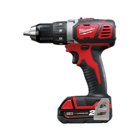 Perceuse visseuse MILWAUKEE M18 BDD-202C - 2 batteries 18V 2.0Ah - 1 chargeur M12-18C 4933443555