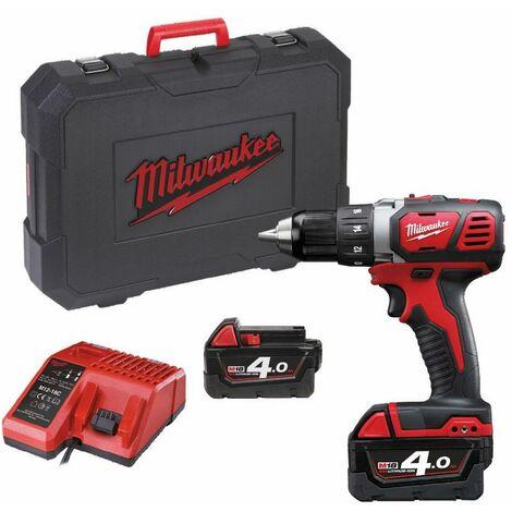 Perceuse visseuse MILWAUKEE M18 BDD-402C 18V + 2 batteries 4.0Ah, chargeur, en coffret - 4933443565