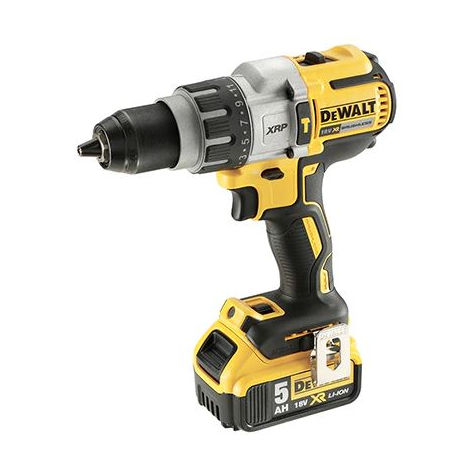 Perceuse visseuse percussion 18V 5Ah DEWALT + 2 batteries + coffret TSTAK - DCD996P2
