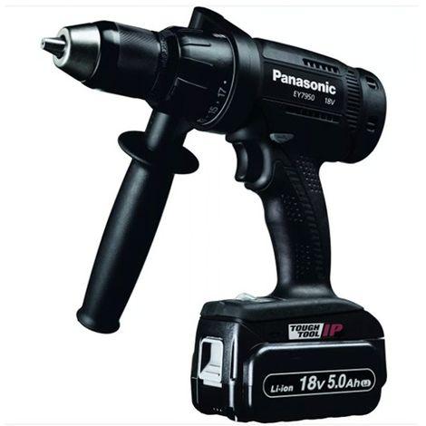 Perceuse visseuse percussion 57 Nm 18 vitesses sans fil 18V - 5,0 Ah Li-Ion Panasonic - EY7950LJ2S - Alsafix - -