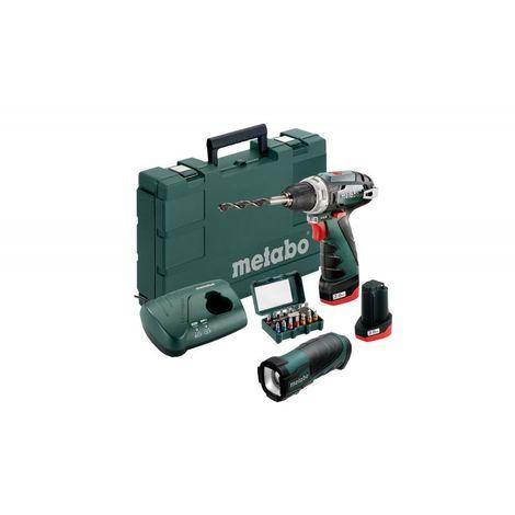 Perceuse-visseuse Powermax BS basic 10.8V + lampe et embouts METABO