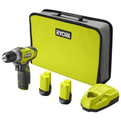 Perceuse-visseuse RYOBI 12V - 2 Batteries 2.0Ah - 1 Chargeur RCD1201-220S