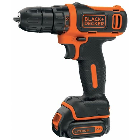 Perceuse Visseuse sans fil 10,8V Batterie lithium 1,5Ah Black + Decker BDCDD12 Chargeur