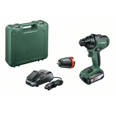 Perceuse-Visseuse sans fil Bosch - AdvancedDrill 18 Set (Livrée avec 2 batteries 18V-2,5Ah et coffret, système 18V)