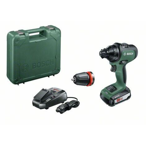 Perceuse-Visseuse sans fil Bosch - AdvancedDrill 18 Set (Livrée avec 3 batteries 18V-2,5Ah et coffret, système 18V)