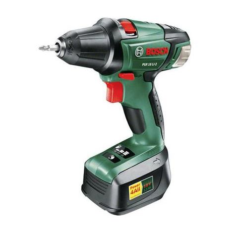 Perceuse-visseuse sans fil Bosch Home and Garden PSR 18 LI-2 060397330X 18 V 2 Ah Li-Ion + batterie 1 pc(s)