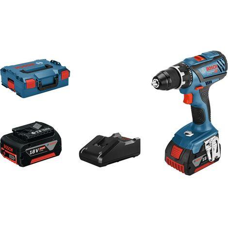 Perceuse-visseuse sans fil Bosch Professional GSR 18V-28 06019H410A 18 V 4.0 Ah Li-Ion + mallette, + 2 batteries 1 pc(s)