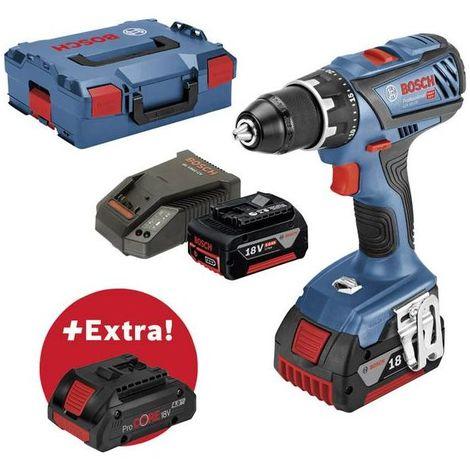 Perceuse-visseuse sans fil Bosch Professional PS GSR 18V-28 + ProCORE18V 4 Ah 0615990K7H 5 Ah + 3 batteries, + mallett
