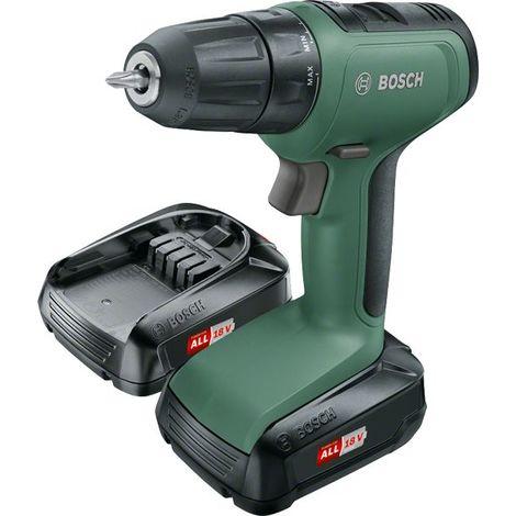 Perceuse visseuse sans fil Bosch - UniversalDrill 18 (Livrée avec 2 Batteries 18V-1,5Ah, embout de vissage double, boite carton)