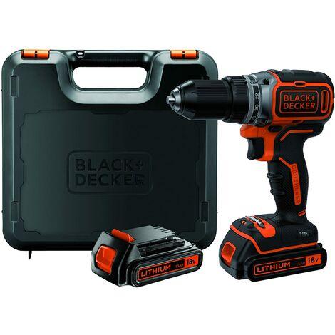 """main image of """"Black & Decker BL186KB-QW Perceuse sans fil Brushless en coffret de rangement avec 2 batteries/chargeur 1,5 Ah 18 V"""""""