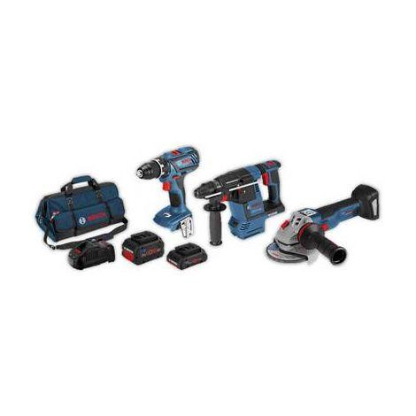 Perceuse-visseuse sans fil, Marteau perforateur sans fil , Meuleuse dangle Bosch Professional 3 tlg. Profi-Set 18V 0615990L51 18 V Li-Ion 1 pc(s)