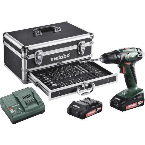 Perceuse-visseuse sans fil Metabo 602207910 18 V 2.0 Ah Li-Ion + 2 batteries, + mallette, + accessoires 1 pc(s)