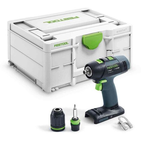 Perceuse-visseuse sans fil T 18+3-Basic en systainer SYS 3 - Festool – 576448