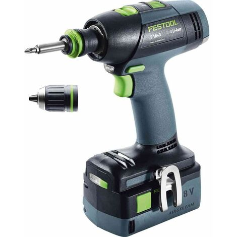 Perceuse-visseuse sans fil T 18+3 Li 5,2-Plus Festool
