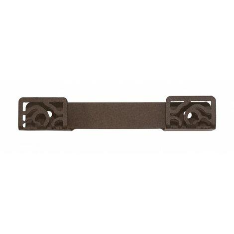 Percha doble Art Déco marrón forja fijación opcional con adhesivo - CM Baños