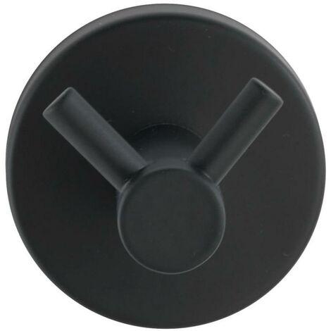 Percha doble de acero inoxidable Bosio negro Wenko