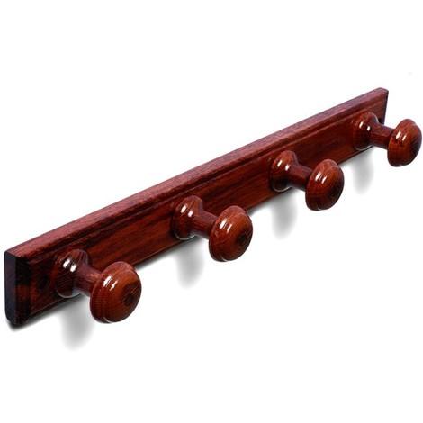 Percha Madera 4 P. Red. Sapeli - BRINOX - B30270Z