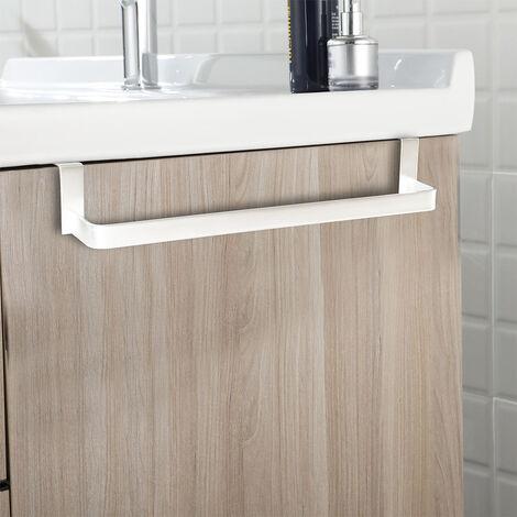 Percha para baño con 4 ganchos cuadrados de acero inoxidable con acabado en negro mate. Repuestos originales garantizados Kibath