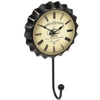 PERCHA PARED METAL CHAPA RELOJ PARIS FLORES