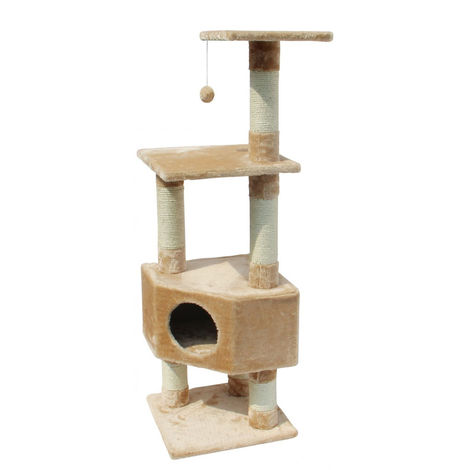 perche arbre chat de scratcher | Classique Loonaa cat scratcher | Grattoir avec le poteau et la grotte