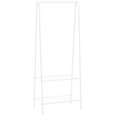 Perchero de ropa blanco 59x35x150 cm
