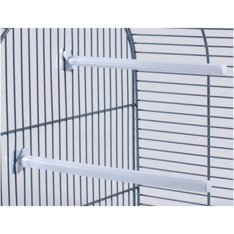 Perchoir oiseau plastique blanc 17cm(50)