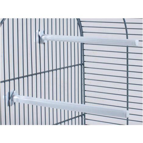 Perchoir oiseau plastique blanc 20,5cm(2)