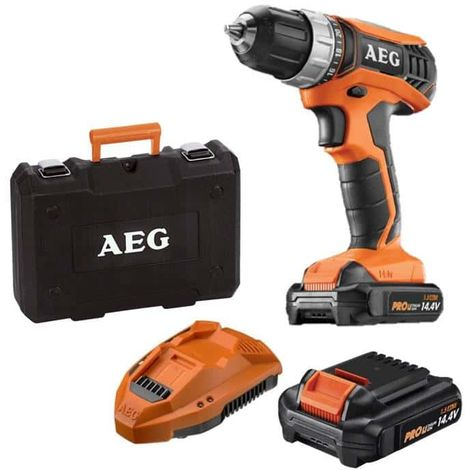 Percussion drill AEG 14V tradesman Gen III BS14G3LI-152C - 2 batteries 1.5Ah - 1 charger
