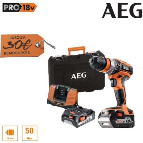Percussion drill AEG 18V - 1 battery 2.0Ah - 1 battery 4.0Ah - 1 charger BSB18C2X LI-X02C