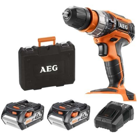 Percussion drill AEG 18V - 2 batteries 4.0Ah - 1 charger BSB18C2XLI-402CA