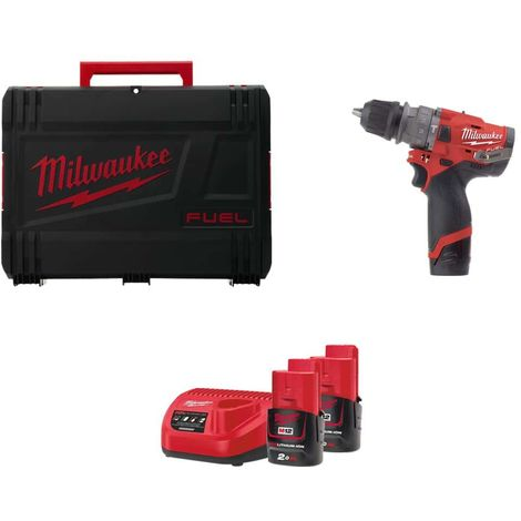 Percussion drill MILWAUKEE FUEL M12 FPDXKIT-202X - 2 batteries 12V 2.0 Ah 1 charger 4933464138