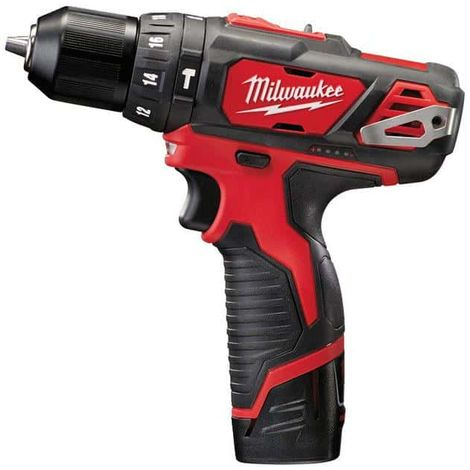 Percussion drill MILWAUKEE M12 BPD-202C - 2 batteries 12V 2.0Ah - 1 charger C12C 4933441940